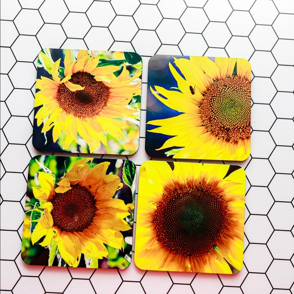 Other - Sun Flower Coasters, Set of 4.